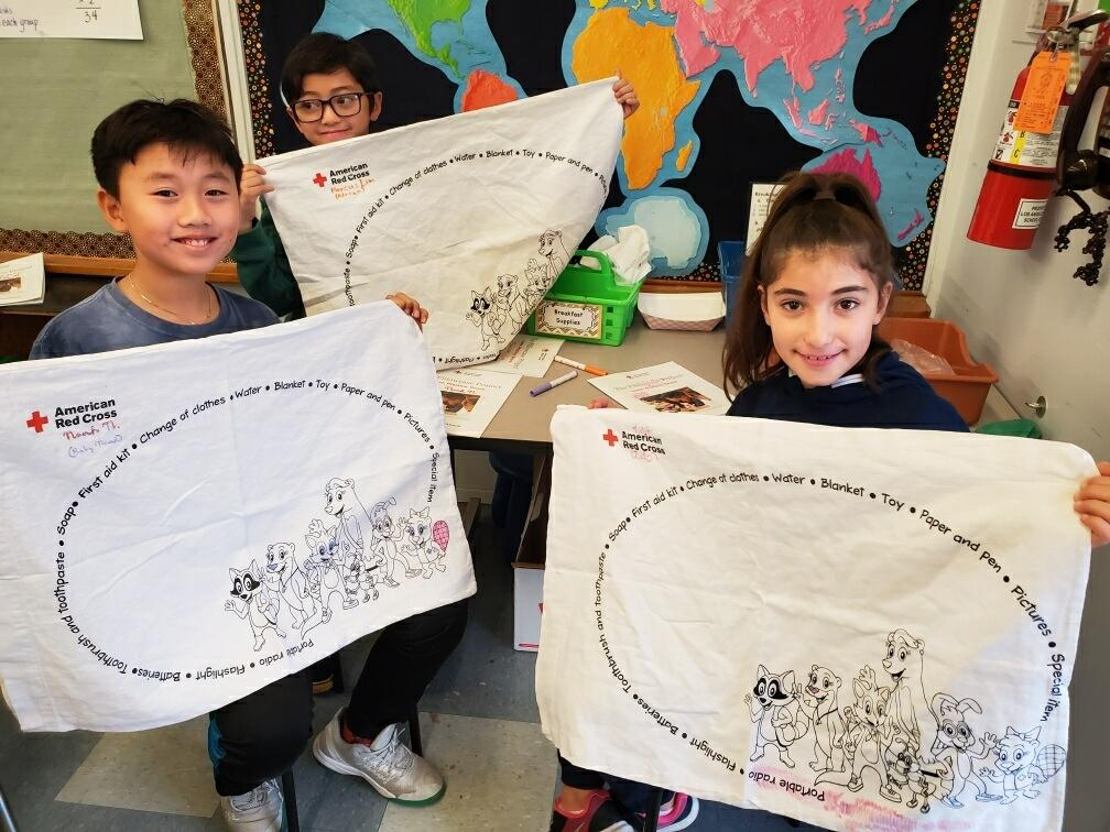 Students after participating in the Pillowcase Project